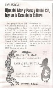 El Mensajero, Madariaga. 16 de enero de 2010