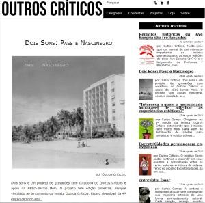 Paes e Nascinegro no site Outros Críticos