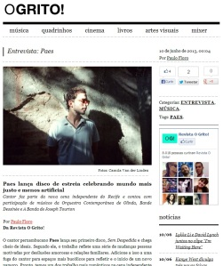 Paes na Revista O Grito