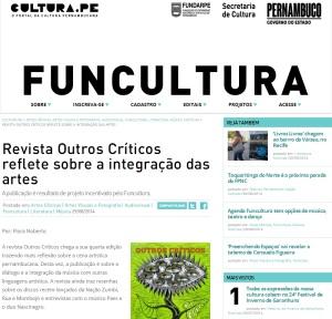 Revista Outros Críticos #4 no portal Cultura PE